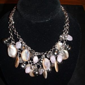Chico's Double Strand Purple Necklace NWT